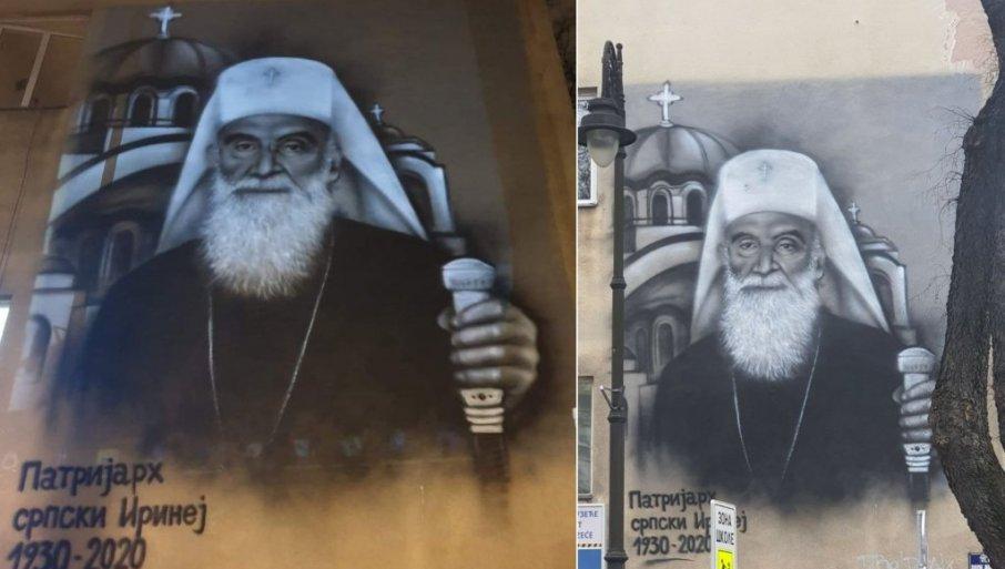 MURALI IRINEJU U ČAST: U Subotici i Beogradu osvanuo lik počivšeg patrijarha