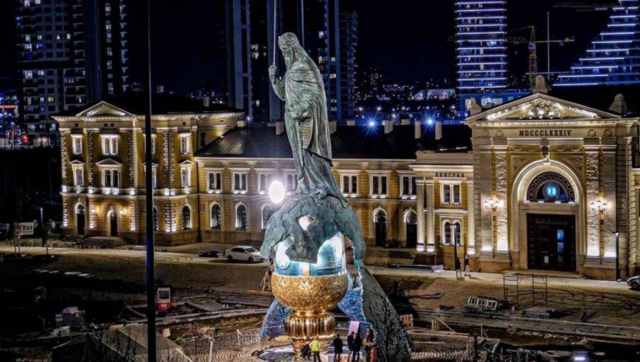 VUČIĆ OBJAVIO VELIČANSTVENU SLIKU SPOMENIKA: Ovo je simbol srpskog napretka i pobede (FOTO)