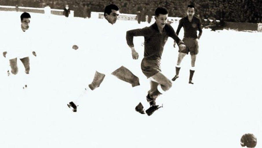 РЕАЛ ТЕ 1955. НИЈЕ ЗНАО ШТА ГА ЈЕ СНАШЛО: Партизан плесао по снегу