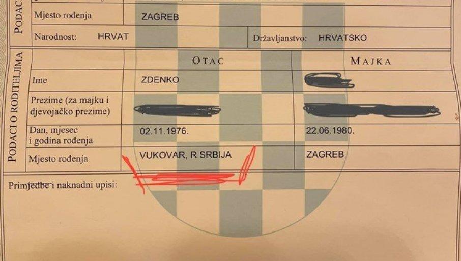 """VUKOVAR - GRAD U SRBIJI!"""" Muškarcu u Zagrebu izdali matičnu knjigu rođenih,  umalo da se šlogira   Novosti.RS"""