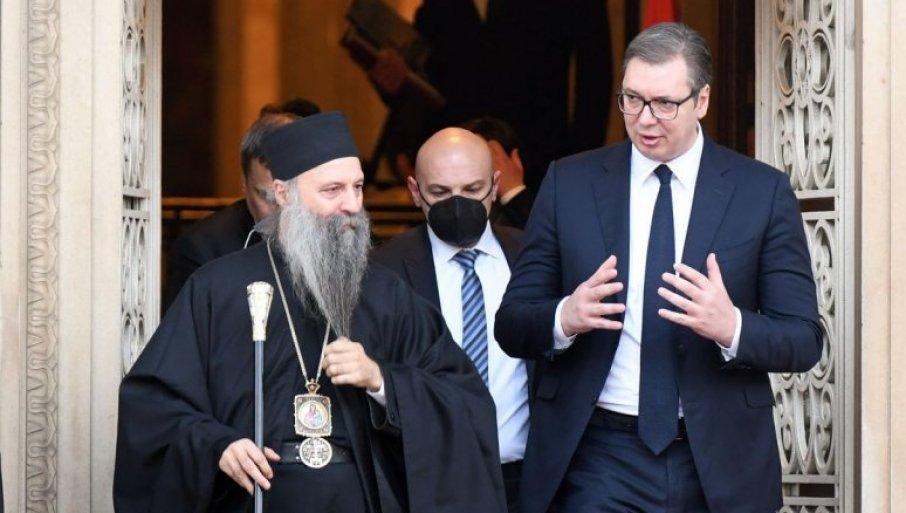 ZAVRŠEN SASTANAK SA PATRIJARHOM - Vučić: Kada država i crkva imaju iste ciljeve, onda Srbija može da bude među prvima u Evropi (VIDEO)