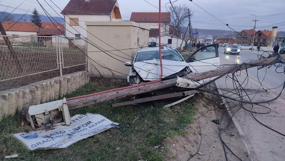 NA ASFALTU SAMO PATIKE I BICIKL: Fotografije sa mesta nesreće u Gračanici - ovde je Albanac pregazio srpskog dečaka (FOTO)