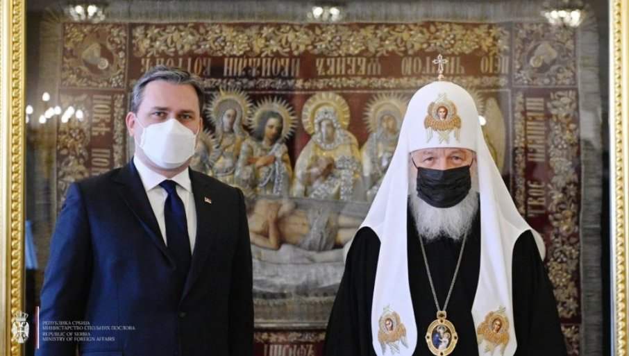 SELAKOVIĆ RAZGOVARAO SA PATRIJARHOM KIRILOM: Tema susreta - Bliske i bratske veze Srbije i Rusije (FOTO)
