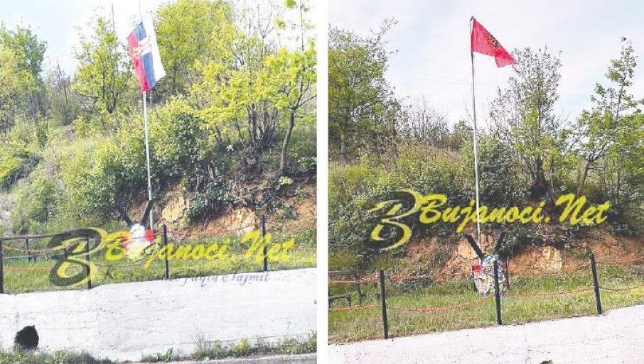 """U KONČULJU RASTU TENZIJE ZBOG ZASTAVA: Na jugu Srbije Albanci ponovo podižu političku temperaturu u """"spomeničkom sukobu"""""""
