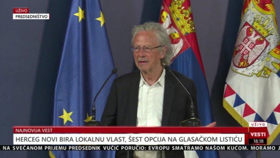 HANDKE EMOTIVNO: Kad pomislim na Srbiju, uvek se setim ikone Belog Anđela  i bude mi drago u srcu