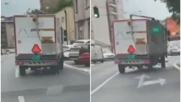 WHAT IS HAPPENING?  Driving a truck to Dimitrije Tucović upset Belgraders (VIDEO)