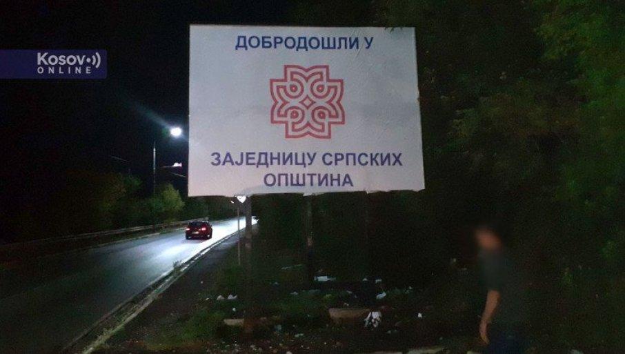 DOBRO DOŠLI U ZAJEDNICU SRPSKIH OPŠTINA: Transparenti i u Severnoj Mitrovici