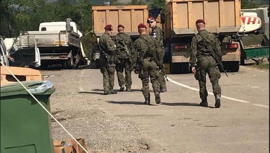 KFOR SE PRENUO - VIDE DA BEOGRAD NE IDE NA BLEF: Vojnici međunarodne misije konačno se pojavili u blizini Jarinja