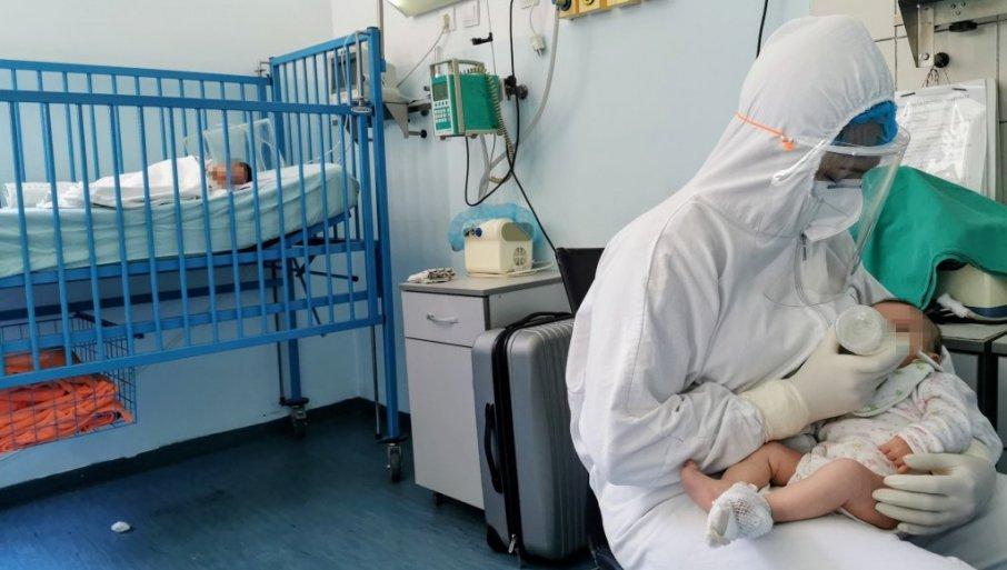 I TRI BEBE NA KISEONIKU: Epidemiološka situacija postaje sve alarmantnija, u bolnicama 25 trudnica i 79 maloletnih pacijenata