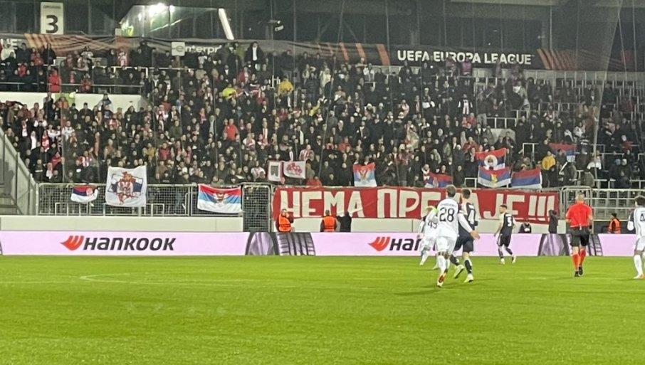 ZVEZDA IMA PODRŠKU: Pristalice crveno-belih se nalaze na stadionu u Danskoj