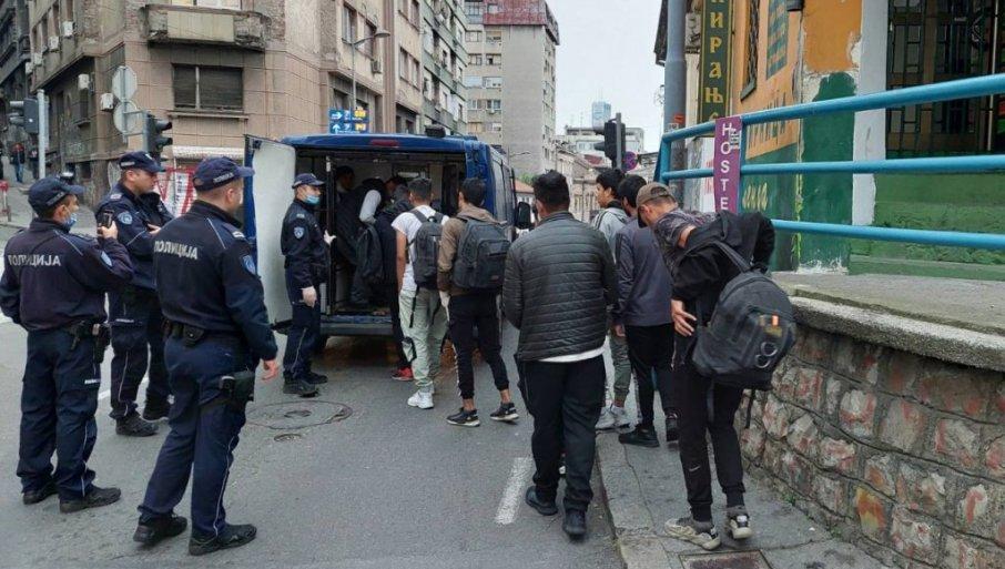SPROVEDENI UPRIHVATNE CENTRE: Na Starom gradu i Savskom vencu pronađen 91 ilegalni migrant
