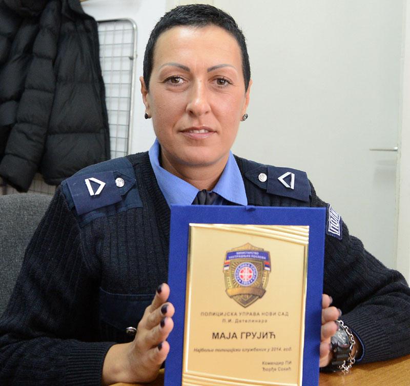 Policajcka Maja Grujic: Mu�karci ne vole da ih �ene hapse ...