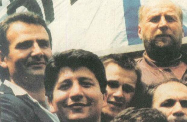 Гишка, Оташевић, Кнеле и Бели на демонстрацијама 1991.