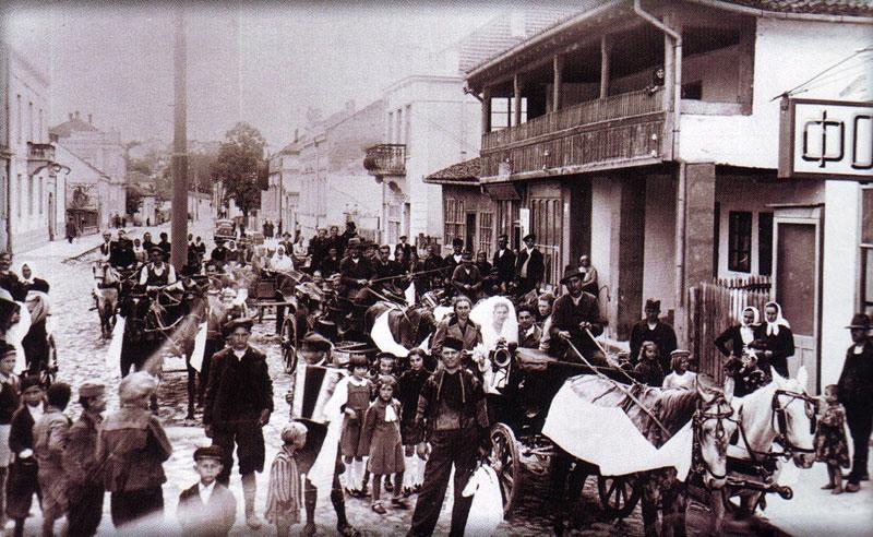 Сватови у тадашњој улици краља Милана 30-их година 20. века