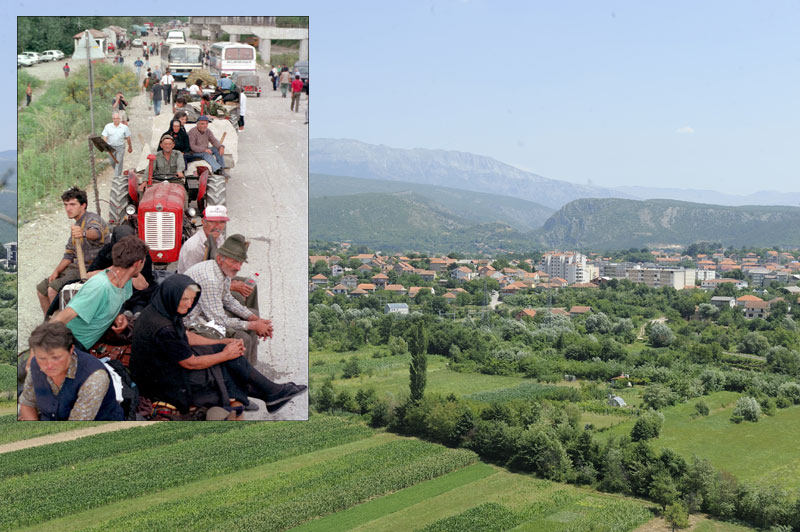 Колоне прогнаних Срба, у августу 1995. године