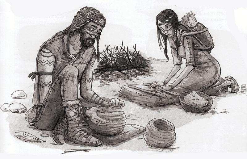 Књига је богата илустрацијама које сведоче о свакодневним пословима становника Лепенског вира