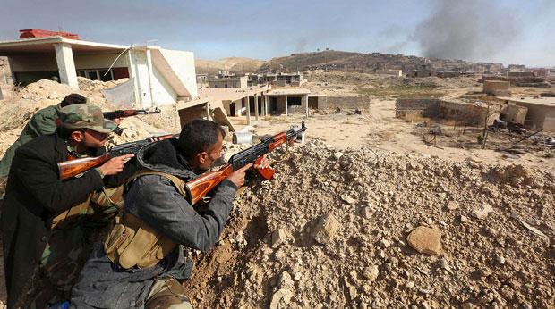 Курдски припадници у борби против исламиста