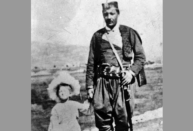 Сердар Јанко Вукотић са ћерком Василијом