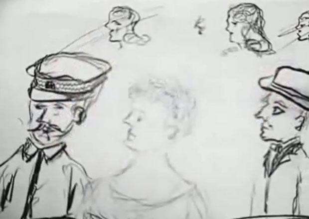 Павелићев цртеж мистериозне плавуше који је нацртао у затвору