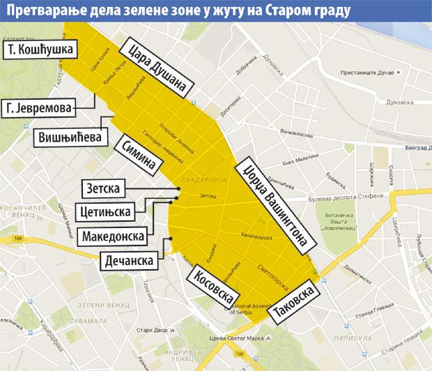 Zone Legalizacija Beograd Mapa Superjoden