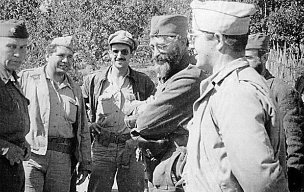 Михаиловић, амерички пуковник Мекдауел и спасени пилоти САД
