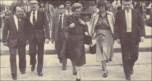 Британска премијерка у посети Железари 1980. године
