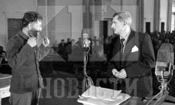 Ђенерал Михаиловић у току суђења