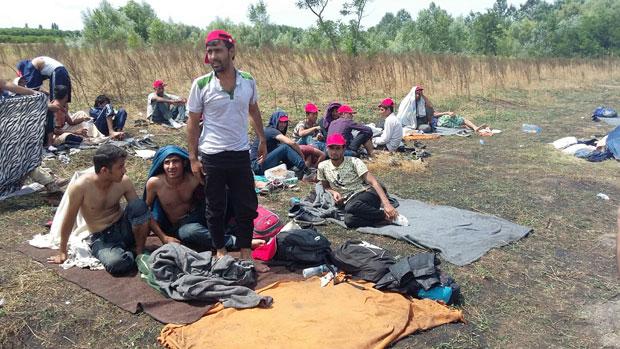 Имигранти на Хоргошу