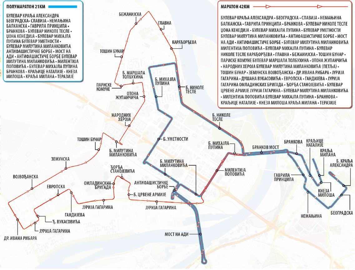 Mapa Beograda Sa Ulicama I Prevozom Superjoden