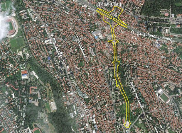 mapa beograda kumodraska ulica Nova Kumodraska ulica   Putevi i zelene površine   Stepa.rs mapa beograda kumodraska ulica