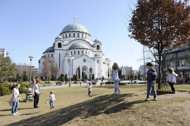 Нова зграда биће у близини Храма Светог Саве Фото З. Јовановић