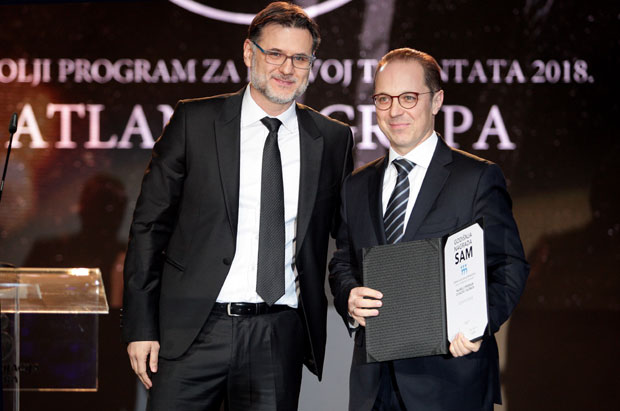 Atlantic Grupa dobitnik SAM nagrade za najbolji program za Razvoj talenata