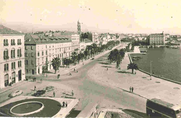 """Razglednica splitske Rive iz 1959. godine / Foto dokumentacija """"Borbe"""""""