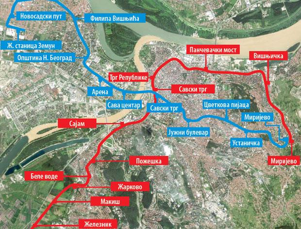 Definisane Trase Dve Linije Metroa Beograd Novosti Rs