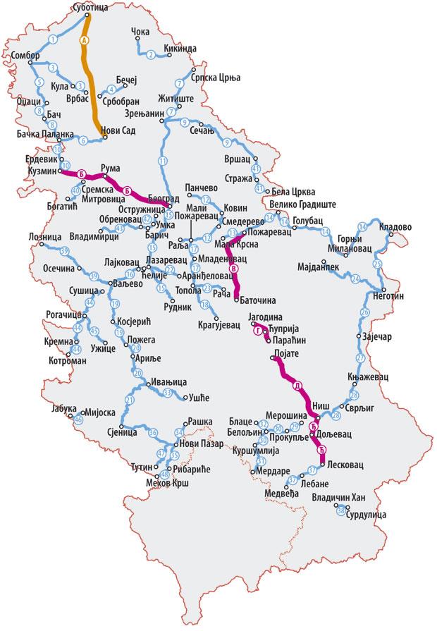 Pogledajte Spisak Svih Regionalnih I Lokalnih Puteva Koji