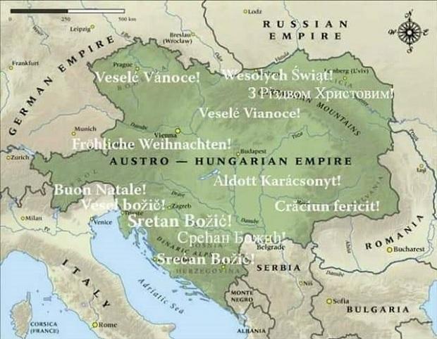 Canak Pati Za Vojvodinom U Sastavu Austrougarske Lepa Mu Mapa