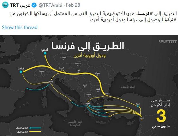 Isplivala Mapa Turci Su Ove Rute Preporucili Migrantima