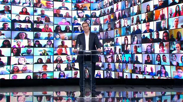 Vučić se građanima obratio na online skupu: Prosječna plata bit će 900 eura, pokrenut ćemo izgradnju stanova za ljekare!