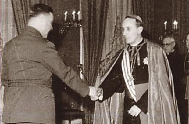 Анте Павелић и Алојзије Степинац